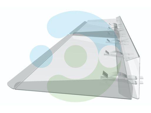 отражатель для кондиционера напольно-потолочного Руф 1100 мм – вид сбоку