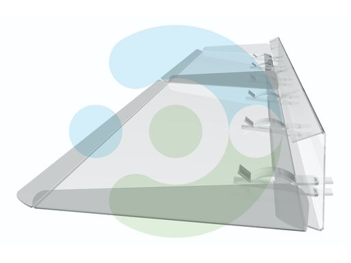 отражатель для кондиционера напольно-потолочного Руф 1000 мм – вид сбоку