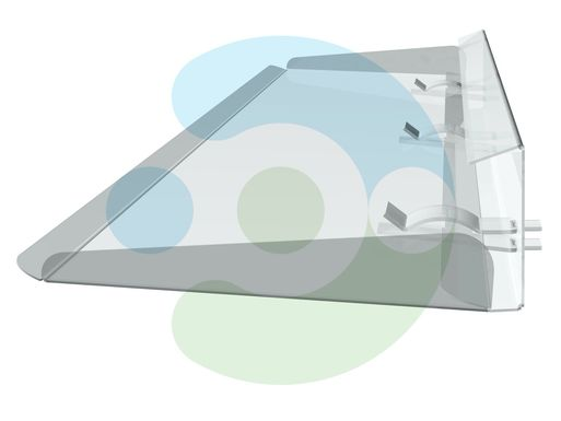 прозрачный отражатель для кондиционера Стик 1300 мм