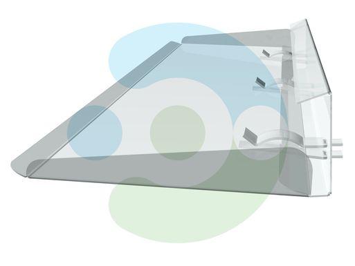 прозрачный отражатель для кондиционера Стик 1100 мм
