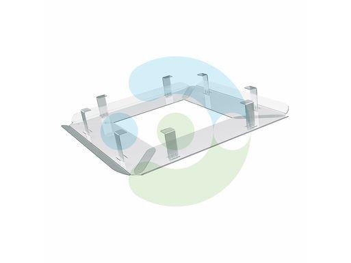 Экран отражатель для кондиционера Флат 700x700 мм – вид сбоку