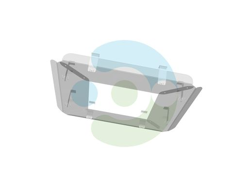 Прозрачный экран для потолочного кондиционера Флат 900x900 мм