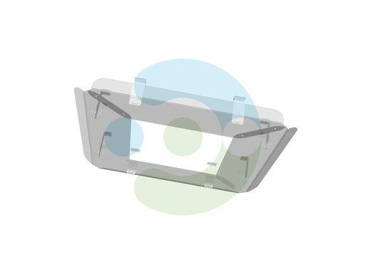 Прозрачный экран для потолочного кондиционера Флат 700x700 мм