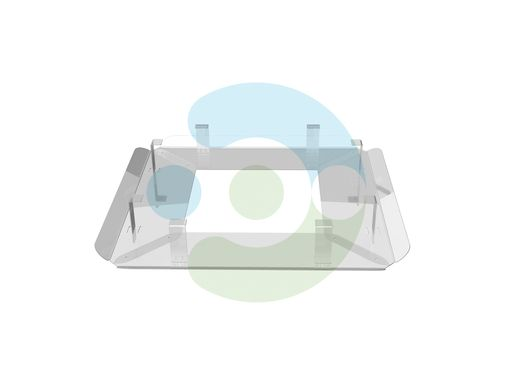 Пластиковый экран для кондиционера потолочного Флат 700x700 мм