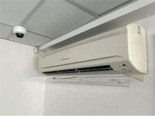 Прозрачный отражатель для кондиционера Стик 1300 мм – вид снизу