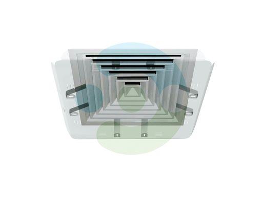 Экран Кватро 450х450 мм для вентиляционной решетки (диффузора). Крепление за внутренние ребра решетки – фото 1