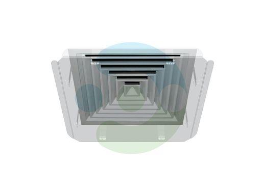 Экран для вентиляционной решетки Кватро 400х400 мм