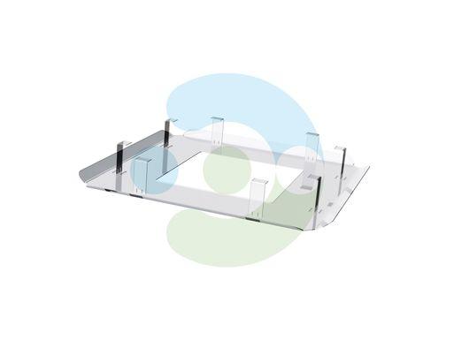 Экран отражатель для кондиционера Планар 650x650 мм – вид сбоку