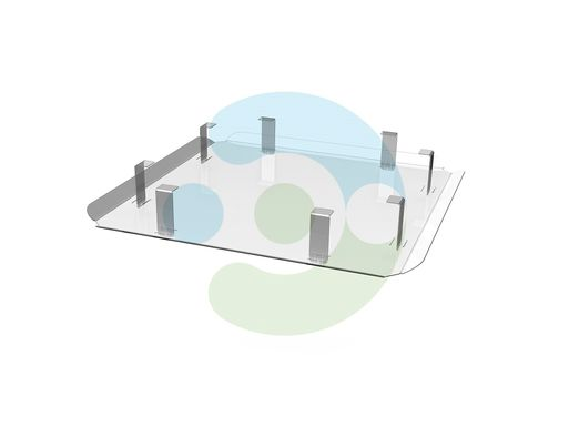 Экран для вентиляционной решетки (диффузора) Кватро 500х500 мм – вид сбоку