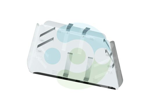 Экран Кватро 600х600 мм для вентиляционной решетки (диффузора). Крепление за внутренние ребра решетки. – фото 3