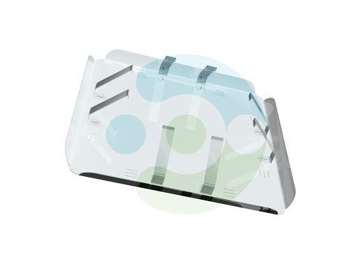 Экран Кватро 450х450 мм для вентиляционной решетки (диффузора). Крепление за внутренние ребра решетки – фото 3