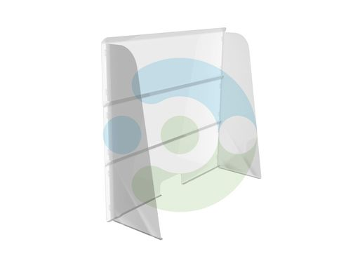 Настольный противовирусный экран для кассы и ресепшн 1000x1000 мм