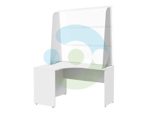 Защитный экран от вирусов на стол Барьер 1100x700 мм