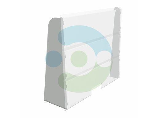 Прозрачный антивирусный настольный экран 1200x700 мм