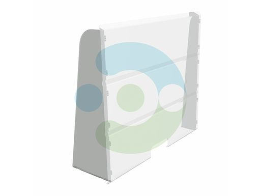 Прозрачный антивирусный настольный экран 1000x1000 мм