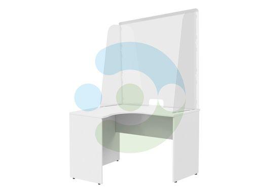 Прозрачный антивирусный настольный монолитный экран 900x700 мм