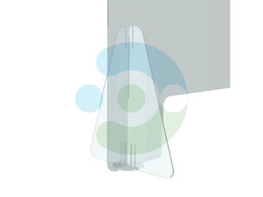 Экран Барьер 1000 мм, мобильный (высота 700 мм), на стойках-площадках – фото 5