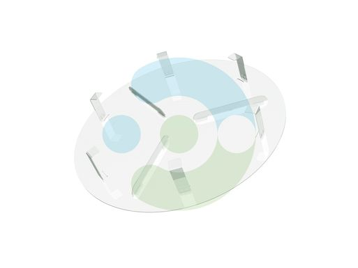 Экран Орби 100 мм для вентиляционной решетки (диффузора) – фото 2