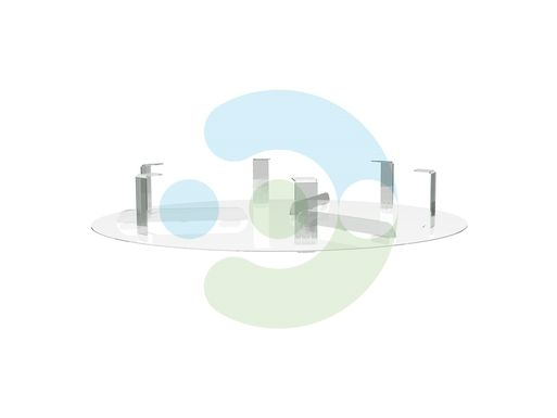 Экран для вентиляционной решетки (диффузора) Орби 700 мм – вид сбоку