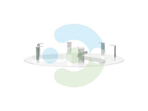 Экран для вентиляционной решетки (диффузора) Орби 200 мм – вид сбоку