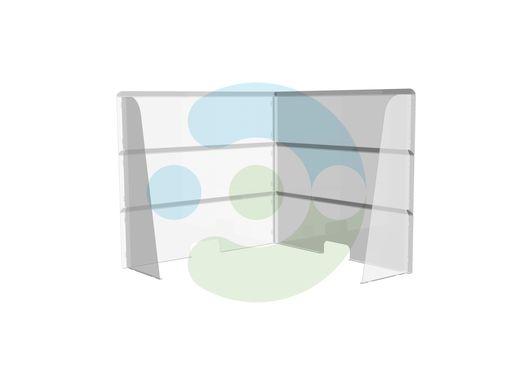 Настольный угловой защитный экран от коронавируса