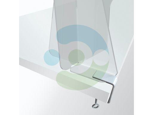 Экран Барьер 800 мм, мобильный (высота 700 мм), крепеж на струбцинах – фото 5