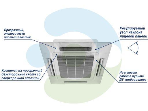 Экран Джет 1000х1000 мм для потолочного кондиционера – фото 2