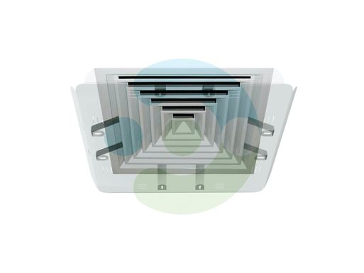 Экран для вентиляционной решетки Кватро 600х600 мм (крепление за внутренние ребра решетки)