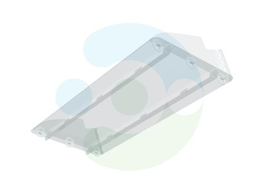 Прозрачный отражатель для кондиционера Классик 900 мм – вид сбоку