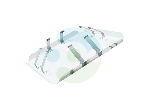Экран для вентиляционной решетки (диффузора) Кватро 600х600 мм (крепление за внутренние ребра решетки) – вид сбоку