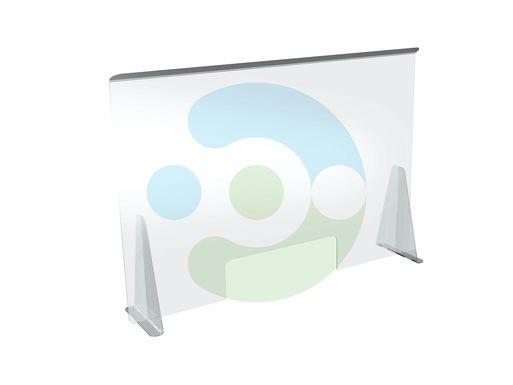 Настольный защитный экран от коронавируса с креплением на струбцину