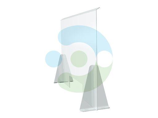 Настольный защитный экран от коронавируса – вид сбоку