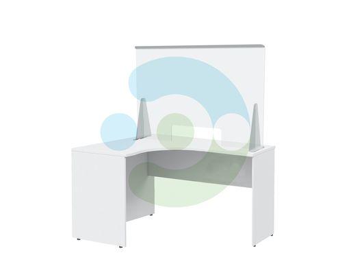 Мобильный противовирусный защитный экран на стол с креплением на струбцину