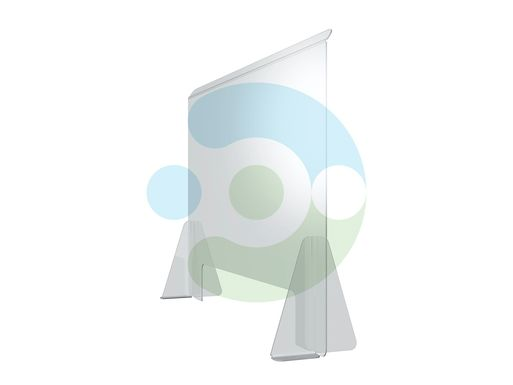 Экран Барьер 900 мм, мобильный (высота 700 мм), крепеж на двустороннюю монтажную ленту – фото 1
