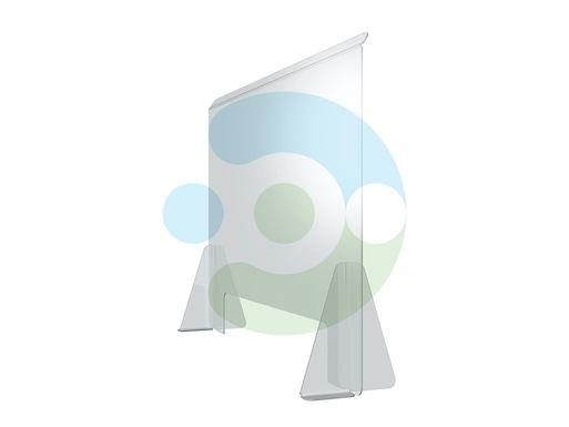 Экран Барьер 1400 мм, мобильный (высота 700 мм), крепеж на двустороннюю монтажную ленту – фото 1